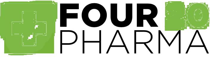 Four 20 Pharma Logo in der Apotheke LUX 99 aka die Cannabisapotheke